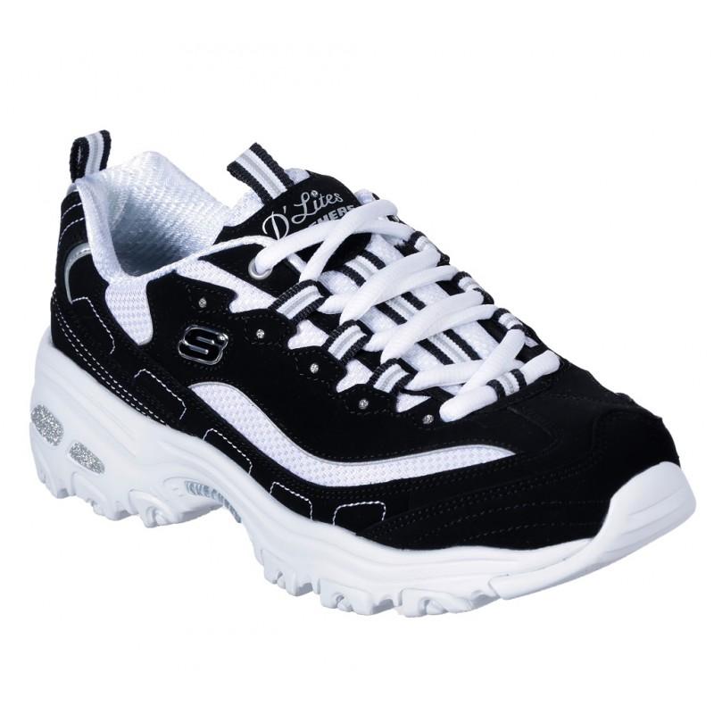 Pantofi sport SKECHERS D'LITES-BIGGEST FAN 11930 WBK