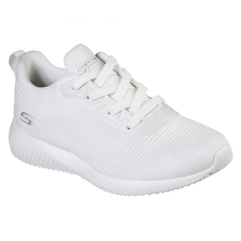 Pantofi sport SKECHERS BOBS SQUAD - TOUGH TALK 32504 WHT