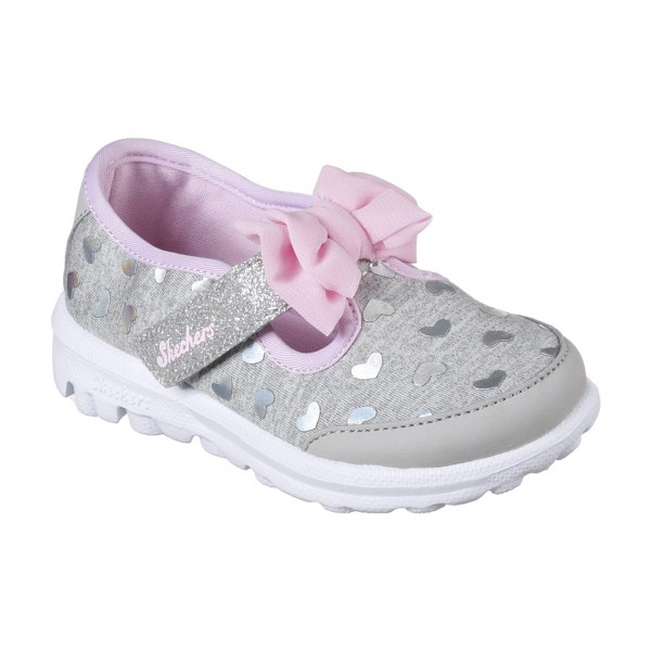 Pantofi sport SKECHERS GO WALK- BITTY HEARTS 81162N GYPK